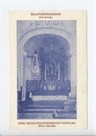 Diási Havas- Boldogasszony-kápolna, Balatongyenesdiás