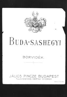 Borcímke Jálics pincze Budapest 1828.