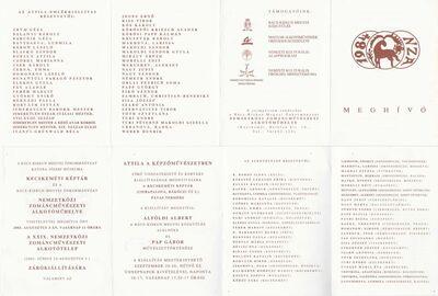 Meghívó a XXIX. Nemzetközi Zománcművészeti Alkotótelep zárókiállítására és az Attila a képzőművészetben című kiállításra
