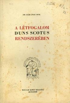 A létfogalom Duns Scotus rendszerében