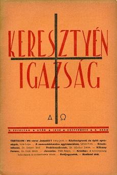 Keresztyén Igazság 1938 (szeptember)