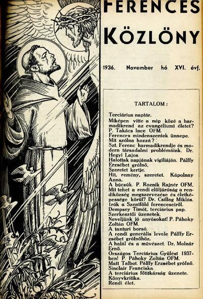 Ferences Közlöny 1936/11