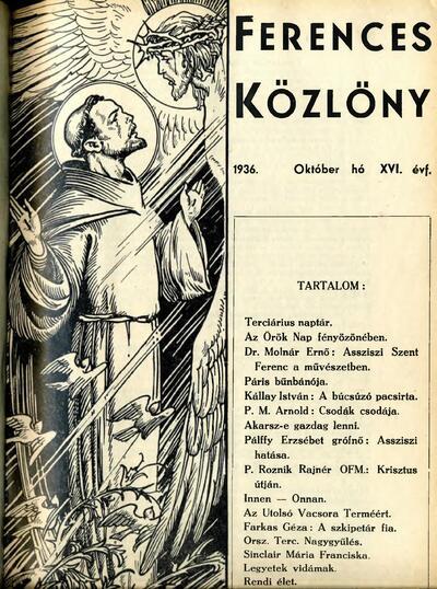 Ferences Közlöny 1936/10