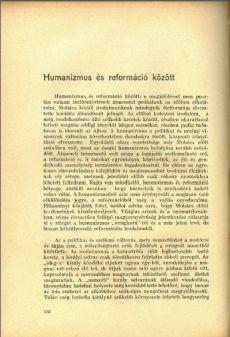 Humanizmus és reformáció között