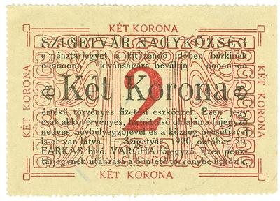 Szigetvári szükségpénz