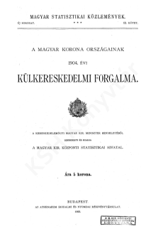A Magyar Korona országainak 1904. évi külkereskedelmi forgalma