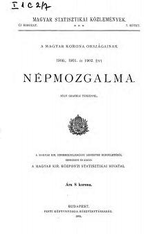 A Magyar Korona országainak 1900., 1901. és 1902.évi népmozgalma