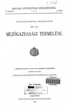 A Magyar Korona országainak 1901. évi mezőgazdasági termelése