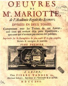 Ouvres de Mr.Mariotte