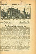 Református Egyházi Értesítő