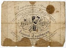 Engelmann Henrik pesti nyomdász hirdetése