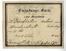 Meghívó Bernthaller Antal mesterdarabjának megtekintésére