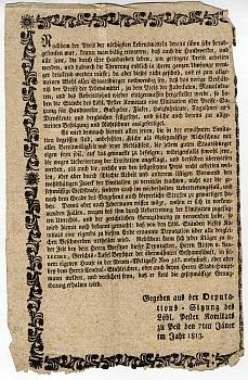 Kézművesek bérének maximálásáról, 1813