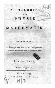 Baumgartner_Zeitschrift_für_Physik_und_Mathematik_1.Bd.