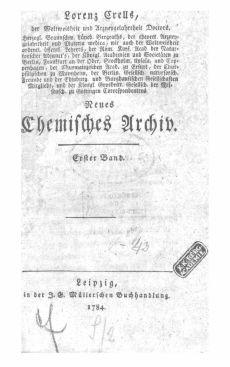 Neues chemisches Archiv 1-2 Bd.