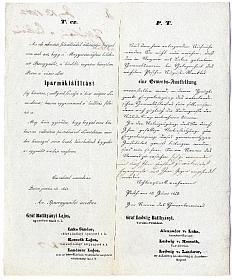 Felhívás az iparműkiállításon való részvételre, 1842