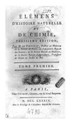 Selmeci Fourcroy:Elémens D Histoire Naturelle...1.kötet