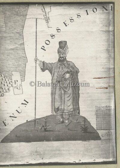 Török jelvény 18. sz.-beli térképen
