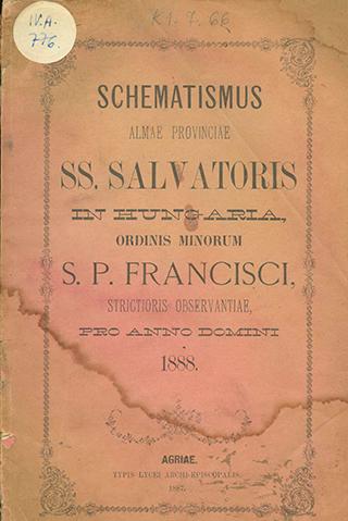 Schematismus Almae Provinciae Sanctissimi Salvatoris in Hungaria