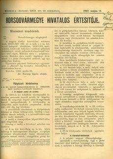Borsodvármegye Hivatalos Értesítője