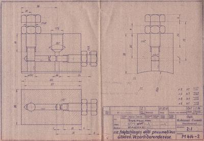 I. számú folytatólagos előtti pneumatikus ütköző. Vezérlőberendezése