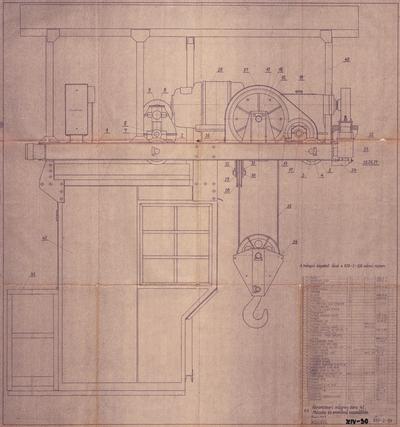 Abroncssori mágnesdaru 4 t. Macska és emelőmű összeállítás