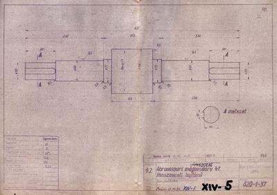 Abroncssori mágnesdaru 4 t.Hosszmeneti hajtómű