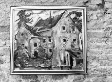 Színes fotó, Pápa, Ughy István festményei