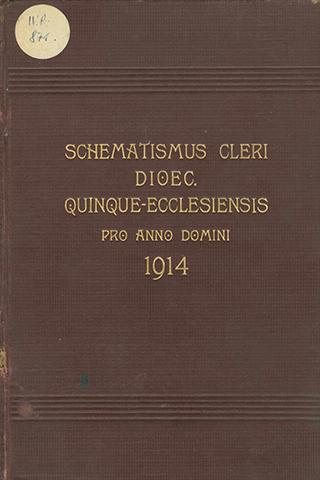 Schematismus cleri dioecesis Quinque-Ecclesiensis,