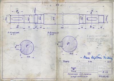 Abroncssori V. számú kemence levegő ventilátor
