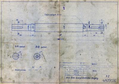 III. számú kemence levegőventilátor tengely