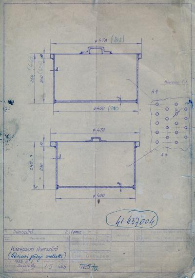 Középsori ikerszűrő (készsori pörgő melletti)