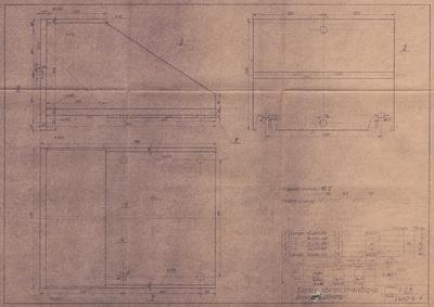 Széles abroncshasítógép. Bevezető állvány