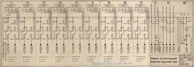 Középsori II. számú kormánypadi leágazások egyvonalas rajza