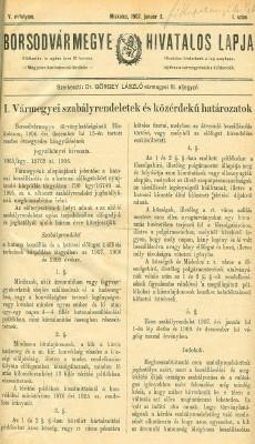 Borsodvármegye hivatalos lapja