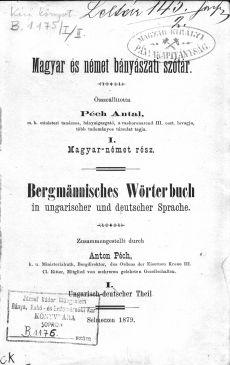 Magyar és német bányászati szótár