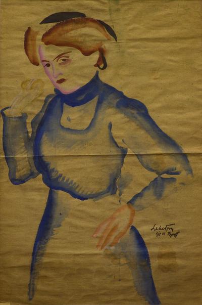 Kékruhás nő