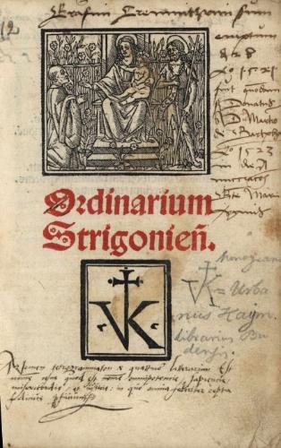 Ordinarium Strigonien[se]