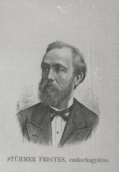 Stühmer Frigyes cukorkagyáros portréja Budapest XIX. század vége