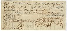 Pesti váltó, 1786