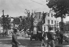 Lebombázott épület