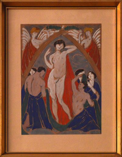 Falfestmény-vázlat