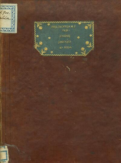Philosophiae Lineae Philosophiae Actiuae Universalis Praecognita