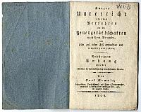 Tűzoltási útmutató és árlista, Pest, 1805