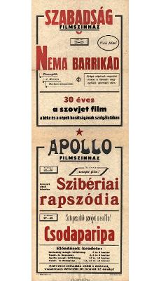 Szabadság és Apollo Filmszínház programjai 1949. február 23-29