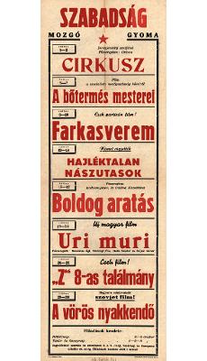 Szabadság Mozgó programjai 1949. július 1-30