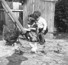 Gyerekek az udvaron