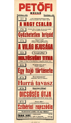 Petőfi Mozgó programjai 1949. május 4-31-ig