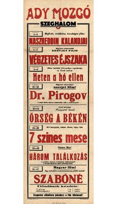 Ady Mozgó programjai 1949. február 1-27-ig