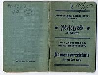 Neuschlosz, A régi hivek páholy névjegyzéke, 1906
